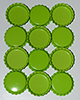 Standard Bottle Cap - Lime DS (10 Pack)