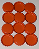 Standard Bottle Cap - Orange DS (10 Pack)