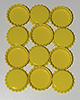 Standard Bottle Cap - Yellow DS (10 Pack)