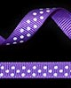 "3/8"" Grosgrain - DOTS Purple w/White Dots (25 YD)"