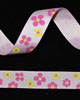 "5/8"" Grosgrain - Yellow and Hot Pink Flowers (25 YD)"