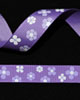 "5/8"" Grosgrain - Purple Flowers (25 YD)"