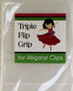 Triple Flip Grips! Clear No-Slip Grips for Alligator Clips