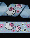 "1 1/2"" Grosgrain - Miss Kitty & Friend (25 YD)"