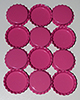 Standard Bottle Cap - Hot Pink DS (10 Pack)