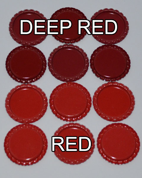 Flattened Cap - Deep Red DS (10 Pack)