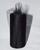 "Glimmer Black Tulle 6"" x 25 yard spool (75 feet)"