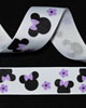 "7/8"" Grosgrain - Ms Mouse Purple Flowers (25 YD)"