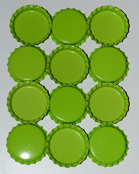 Standard Bottle Cap - Lime DS (10 Pack) - Click Image to Close