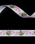 "3/8"" Grosgrain - Bees And Flowers (25 YD)"