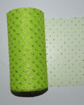 "Sparkle Glitter Green Pixie Neon 6"" x 25 yard spool (75 feet)"